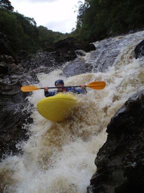 Kayaking the Spean Gorge