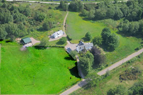 Whin Knowe from aerial view